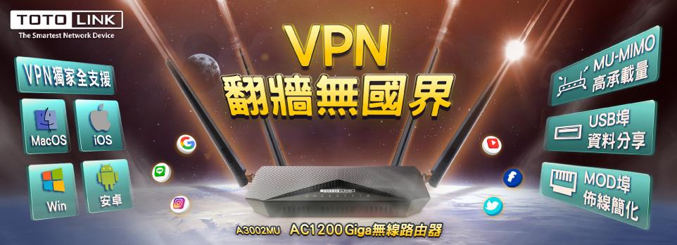 TOTO-LINK AC1200雙頻Giga無線路由器