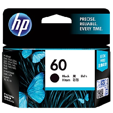 HP 60號黑色墨水匣