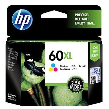 HP 60號XL彩色墨水匣