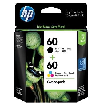 HP 60號黑/彩組合包裝墨水匣 CN067AA