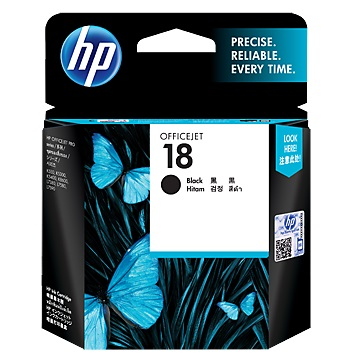 HP 18號黑色墨水匣