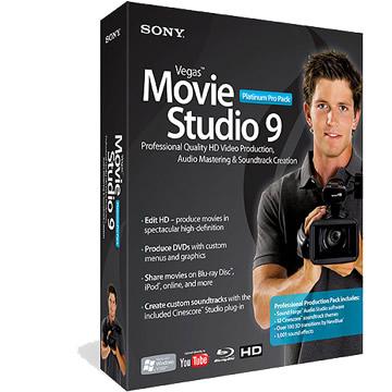 SONY Vegas Movie Studio 9 Pro Pack英文版
