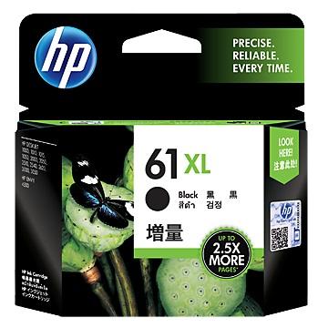 惠普HP 61號XL黑色墨水匣