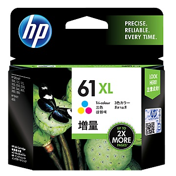 惠普HP 61號XL彩色墨水匣