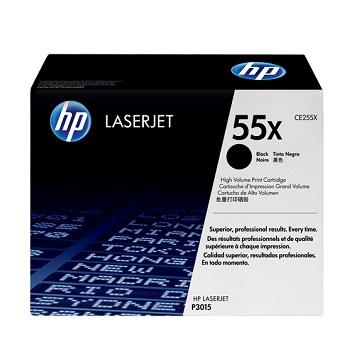 HP 55X 黑色原廠碳粉匣(高容量) CE255X