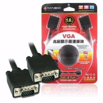 MAGIC VGA 15pin公對15pin公高級顯示器連接線-1.8M CBH-VGAH-018MM