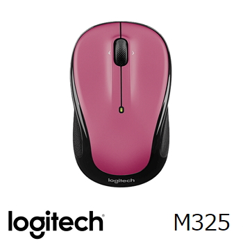 羅技 Logitech M325 無線滑鼠 - 沙塵玫瑰紅