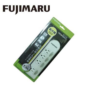 Fujmaru 4切4座3孔多功能延長線(1.8m) F-344A
