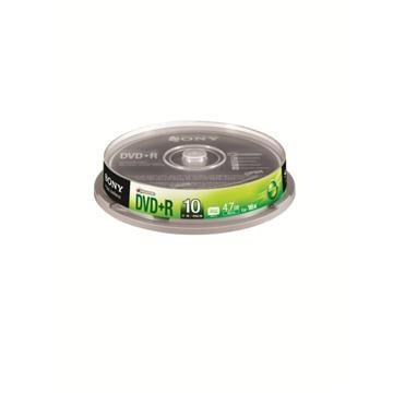 SONY光碟片16X DVD+R/10片桶裝