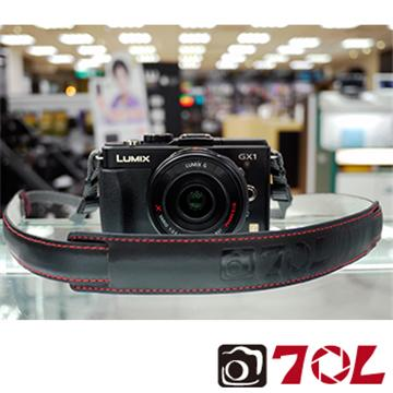 70L SL1601真皮彩色相機背帶-尊爵黑紅