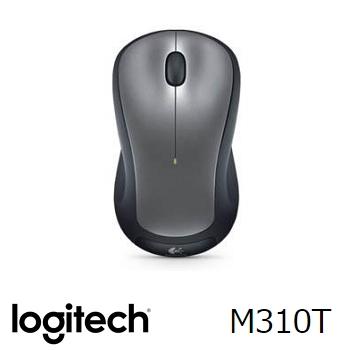 羅技 Logitech M310T 無線滑鼠 - 銀黑 910-003990