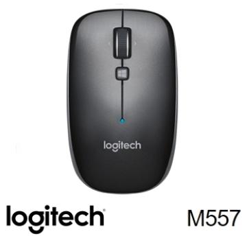 羅技Logitech M557 藍牙滑鼠 鐵灰黑