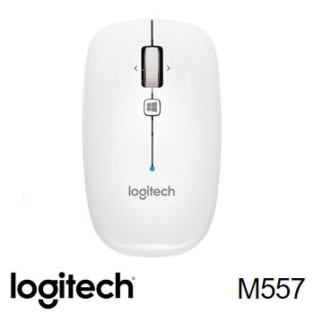羅技 Logitech M557藍牙滑鼠 - 珍珠白