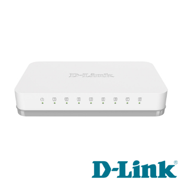 D-Link DGS-1008A 超高速乙太網路交換器