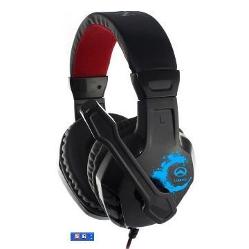 Amice 玩家首選-重低音震撼級電競耳麥-黑紅 BSM-1401-35BR