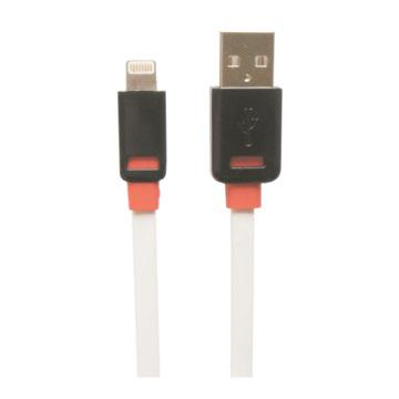 【1M】Apple認證-Lightning 8pin-白色扁平線