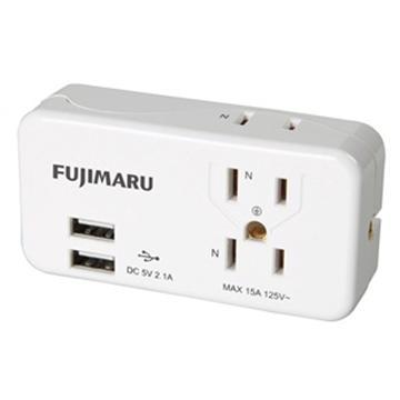 FUJIMARU 3座2+3孔 USB擴充座 FJ-M03AU2-W