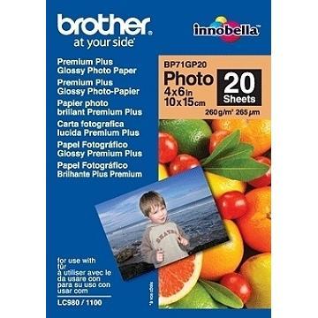 Brother 4x6噴墨專用相片紙(亮面)