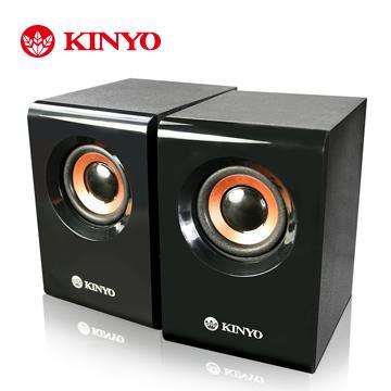 KINYO USB木質立體擴大喇叭