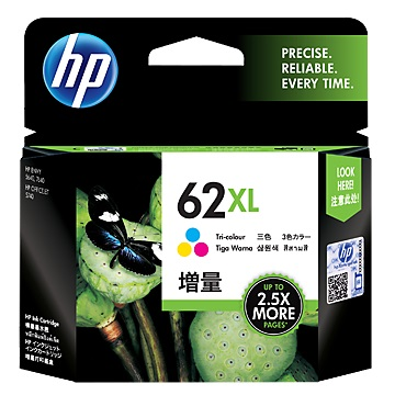 惠普HP 62XL 高容量彩色墨水匣
