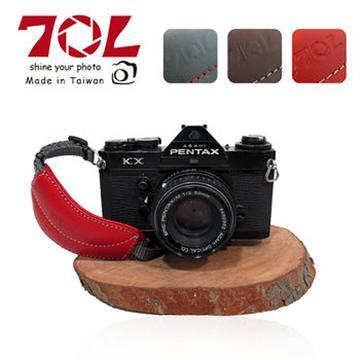 70L DHS01真皮單眼相機手腕帶(附快拆板) 熱情紅
