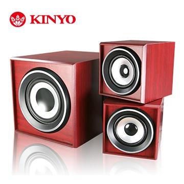 KINYO 2.1聲道典雅全木質音箱