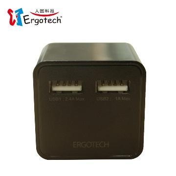 人因UA5301K(黑)3.4A雙USB快速充電器