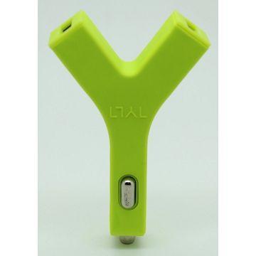 Q PNP Bullet 2.4A雙USB車充-綠