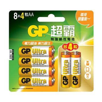 GP超霸3號特強鹼性電池8+4入 AA8+4