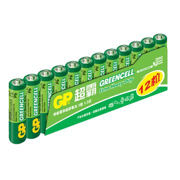 GP超霸3號特級碳鋅電池12入