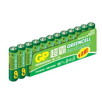 GP超霸4號特級碳鋅電池12入 AAA 12