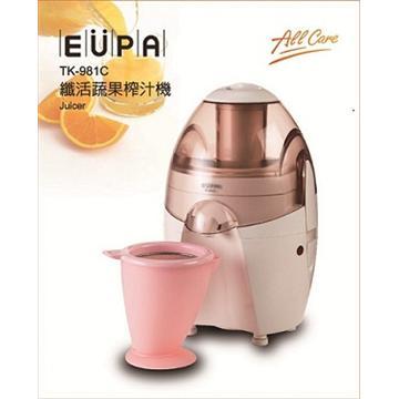 【福利品】EUPA 纖活蔬果榨汁機-粉紅 TK-981C