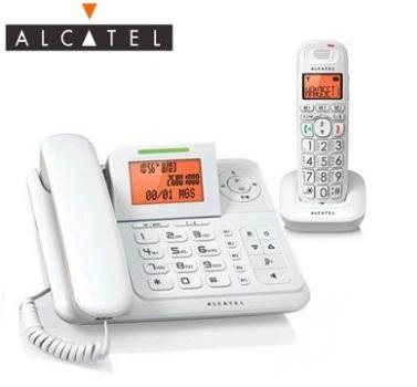 (展示機)Alcatel DECT數位答錄無線親子機