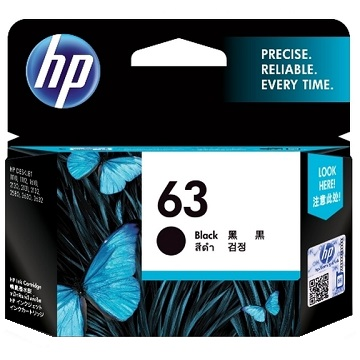 惠普HP 63 黑色墨水匣