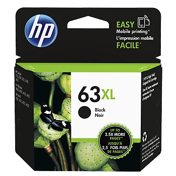 惠普HP 63XL 高容量黑色墨水匣