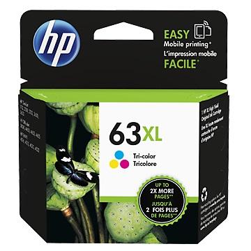 HP 63XL 高容量彩色墨水匣