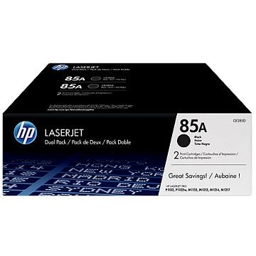 HP 85A 黑色原廠碳粉匣(雙入組)