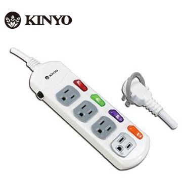 KINYO 4開4插 安全延長線