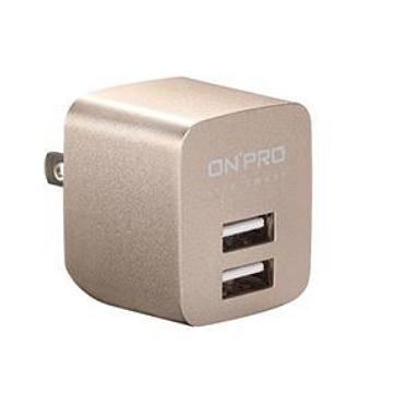 ONPRO USB雙埠電源供應器-金 UC-2P01-G