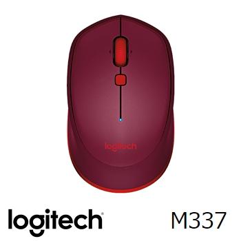 Logitech羅技 M337 藍牙滑鼠 紅