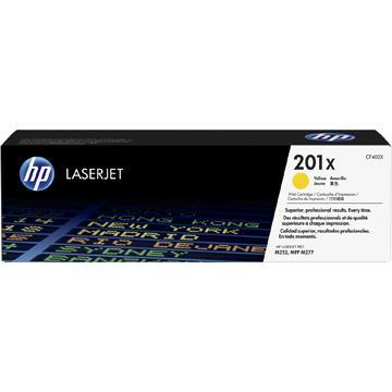 【福利品】HP 201X 黃色原廠碳粉匣(高容量)