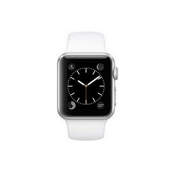 【38mm】Apple Watch Sport 白色運動 / 銀色鋁金屬 MJ2T2TA/A