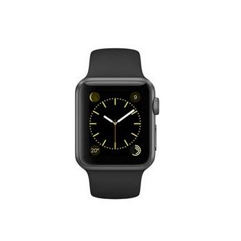 【38mm】Apple Watch Sport 黑色運動 / 太空灰鋁金屬 MJ2X2TA/A