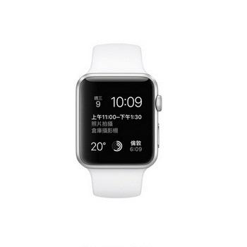 【42mm】Apple Watch Sport 白色運動 / 銀色鋁金屬 MJ3N2TA/A