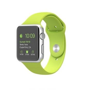【42mm】Apple Watch Sport /銀色鋁金屬/綠色運動錶帶 MJ3P2TA/A
