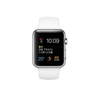 【42mm】Apple Watch 白色運動 / 不鏽鋼 MJ3V2TA/A