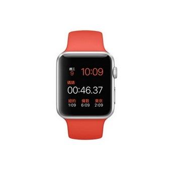 【42mm】Apple Watch Sport 橙色運動 / 銀色鋁金屬 MLC42TA/A