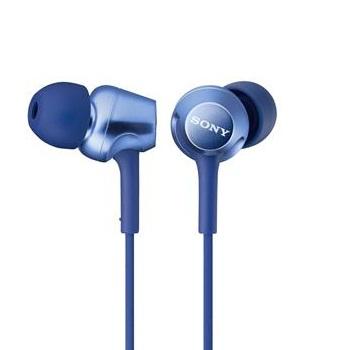 SONY MDR-EX250AP入耳式耳麥-藍