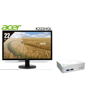 """微星MSI 迷你電腦+ACER 22""""液晶顯示器組合 CUBI-033XTW-W3205U4G50XX"""