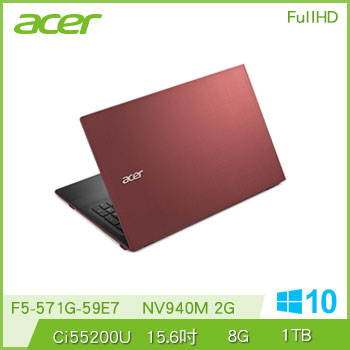 ACER F5-571G Ci5 NV940 獨顯筆電 F5-571G-59E7(紅)